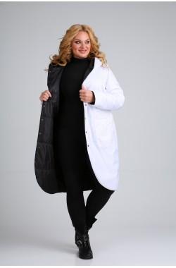Пальто двустороннее Diamant 1328 белый + черный