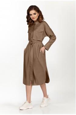 Платье Olegran 3723 коричневый