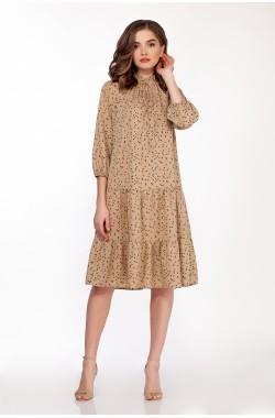 Платье Olegran 3728 светло-коричневый