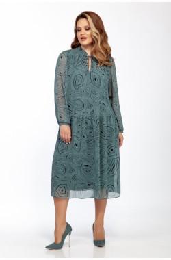 Платье Olegran 3785 бирюзовый