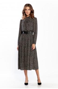 Платье Olegran 3786 черно-коричневый