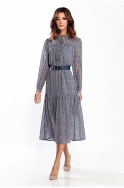 Платье Olegran 3786 голубой