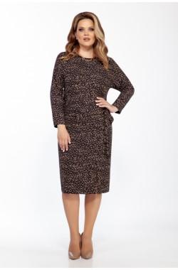 Платье Olegran 3788 черно-коричневый