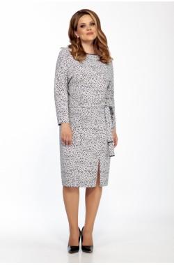 Платье Olegran 3788 черно-белый